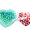Valentine trandafir floare forma de inima diy silicon ciocolata budinca zahar tort mucegai culoare aleatoare