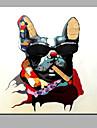 enda modern abstrakt ren handen dra redo att hänga dekorativa hunden oljemålning