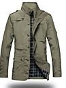 Bărbați Stand Jachetă Zilnice Școală Dată Clasic & Fără Vârstă,Culoare solidă Manșon Lung Toamnă Iarnă-Regular N/A