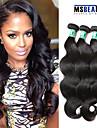"""3 st / lot 8 """"-30"""" 5a peruanska jungfru hår vågigt hårförlängningar 100% obearbetat remy människohår väver"""