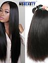 """4st / lot 8 """"-30"""" 5a peruanska jungfru hår rakt mänskliga hårförlängningar 100% obearbetat peruanska remy hår väver"""