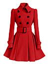 Damen Mantel  -  Retro Langarm Baumwolle