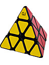 Qiji® Slät Hastighet Cube 3*3*3 Hastighet Magiska kuber Svart Blekna / Ivory Plastic