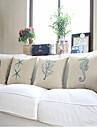 4 pcs Coton Coton/Lin Housse de coussin,Imprime animal Moderne/Contemporain