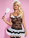 Costumes de Cosplay Costumes de carriere Fete / Celebration Deguisement Halloween Blanc & noir Gilet / Jupe / Culottes / Coiffure Carnaval