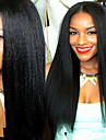 Premierwigs 8\'\'-26\'\' Soft Kinky Straight Brazilian Virgin Glueless Full Lace Human Hair Wigs Glueless Lace Front Wigs 8A