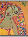 Peint a la main PersonnageClassique Un Panneau Toile Peinture a l\'huile Hang-peint For Decoration d\'interieur