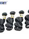"""4 pieces / lot 12 """"-28"""" 6a cheveux vierges peruvien vague lache cheveu humain trames 100% non transformes cheveux remy peruvien tisse"""