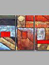 Dipinta a mano AstrattoModern Tre Pannelli Tela Hang-Dipinto ad olio For Decorazioni per la casa