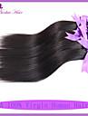 indisk jungfru hår rakt 4st / lot 7a obearbetat jungfru hår väver billiga mänskliga hårförlängningar