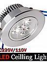 3W Inredningsglödlampa 3 Högeffekts-LED 300 lm Varmvit / Kallvit Dimbar / Dekorativ AC 100-240 V 1 st