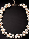 MISSING U Cute / Party Alloy / Rhinestone / Imitation Pearl Statement Necklace