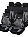 9 PCS Ställ Car Seat Covers För Material Polyester Teknik Värme Präglat Universal Fit