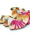 Scarpe da ballo - Non personalizzabile - Da donna / Per bambini - Balli latino-americani - Basso - Raso - Rosa / Argento / Dorato