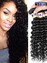 """3 st / lot 8 """"-30"""" 6a malaysiska jungfru djup våg hårförlängningar 100% obearbetat jungfru människohår väver"""
