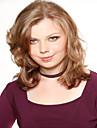 mode blond färg mediet syntheic peruk förlängningar europeiska kvinnor dam