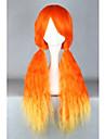 Perruques de lolita Doux Orange Degrade de Couleur Perruque Lolita  70 CM Perruques de Cosplay Mosaique Perruque Pour