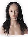 nova 10-28inch brasileiro do cabelo virgem crespo peruca encaracolado cor natural rendas frente, dom gratuito de envio