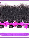 klass 7a peruanska kinky lockigt jungfru hår 3st / lot obearbetat peruanska jungfruligt hår lockigt väva