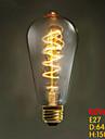 :: e27 ST64 tråd runt 60W 220v-240v edison retro dekorativa glödlampor