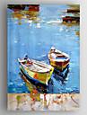 oljemålning abstrakt landskap båtar för hand målade med sträckt inramade redo att hänga