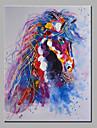 oljemålning modern abstrakt ren handen dra redo att hänga dekorativa hästen oljemålning