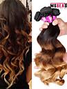 4 pieces / lot 7a 3t peruviens cheveux vierges ondes lache trames de cheveux humains 100% cheveux remy peruvien non transformes tisse