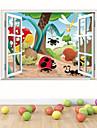 Animaux / Botanique / Bande dessinee / Romance / Mode / Vacances / Paysage / Forme / Fantaisie / 3D Stickers muraux Stickers muraux 3D ,