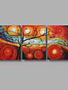 """Ready to Hang Stretched Hand-Painted Large Oil Painting 60""""x28"""" Canvas Wall Art Modern Abstract Life Trees Art"""