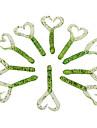 """10 pcs Leurre souple Vert / Rouge 0.0015 g/<1/18 Once,55 mm/2-1/4"""" / 6"""" pouce,PVC Autre"""