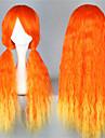 Perruques de lolita Doux Degrade de Couleur Long Orange Perruques de Lolita 70 CM Perruques de Cosplay Mosaique Perruque Pour Femme