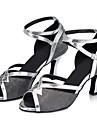 Chaussures de danse ( Noir ) - Non Personnalisables - Talon Cubain - Paillette Brillante / Paillette -Latine / Jazz / Moderne /