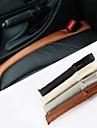 ziqiao pu bouchon de fente de securite du vehicule en cuir etanche etui de protection (x2)
