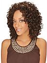 hög kvalitet afrikansk brun peruk klädstil hög temperatur tråd kort lockigt hår peruk