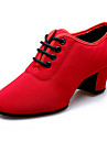 Zapatos de baile ( Negro / Rojo ) - Latino - No Personalizables - Tacon Cubano