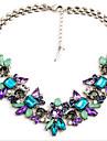 MISSING U Vintage / Party Alloy / Gemstone & Crystal Statement Necklace
