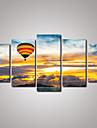Loisir / Paysage / Photographie / Realisme / Romantique / Voyage Toile Cinq Panneaux Pret a accrocher , Format Horizontal