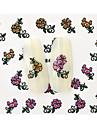 10pcs-Autocollants 3D pour ongles-Doigt / Orteil- enBande dessinee / Fleur / Adorable-6.5*5.2