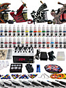 Solong Tattoo Complete Tattoo Kit 4 Pro Machines 40 Inks Power Supply Foot Pedal Needles Grips Tips TK455