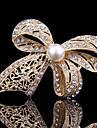 femei cristal drăguț bowknot perla brosa pentru decorare petrecere de nunta eșarfă, bijuterii fine
