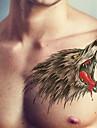 BR - Tatueringsklistermärken -Non Toxic / Mönster / Stor storlek / Glitter / Tatueringsmaskin / Stam / Ländrygg / Waterproof / 3D / Jul /