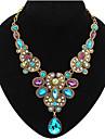 Women\'s Statement Necklaces Bib Necklaces Gemstone Drop FashionEuropean Luxury Jewelry for Party