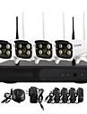 yanse® wifi IP Camera NVR kit 720p CCTV-kameror videcam inomhus ir säkerhet kameran självförsvar övervakningskameror