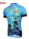 TASDAN Maillot de Cyclisme Femme Manches courtes Velo Maillot Hauts/Tops Sechage rapide Respirable Anti-transpiration 100 % Polyester Ete