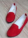 Damskor - Fleece - Platt klack - Rund tå - Platt sko - Fritid -Svart / Blå / Gul / Grön / Rosa / Lila / Röd / Vit / Grå / Vinröd /