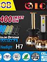 liancheng® 60w 6400lm 9 ~ 32v haute luminosite torchis conduit phare kit-h7 pour la voiture, hors route, UTV, atv