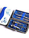 mode blått och vitt porslin nail art verktyg set, nagelklippare earpick ögonbryn pincett kniv resa manikyr set