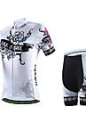Maillot et Cuissard de Cyclisme Femme / Homme / Unisexe Manches courtes VeloRespirable / Sechage rapide / Zip frontal / Vestimentaire /
