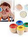 1pc enfant jouet classique educatif magie en bois colore kaleidoscope prisme