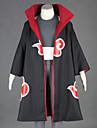 Inspirerad av Naruto Kakuzu Animé Cosplay Kostymer/Dräkter cosplay Suits Lappverk Svart Kappa / Väst / Byxor / Huvudbonad / Hatt / Bälte